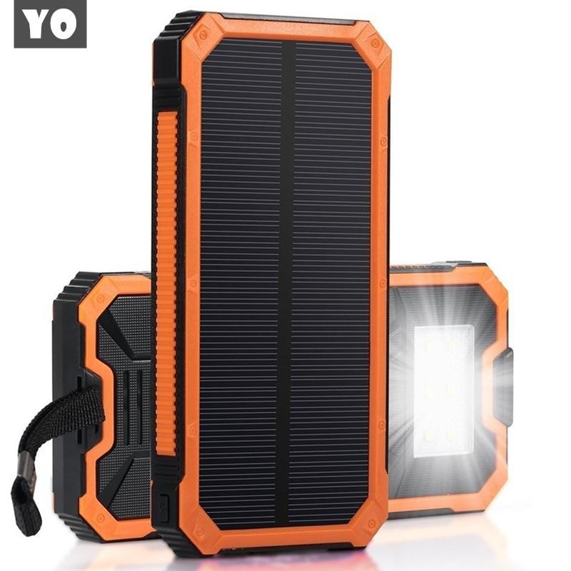 imágenes para Banco de la Energía Solar Al Aire Libre Solar Powerbank Cargador Dual USB Banco de la Energía Del Teléfono Móvil de La Batería Externa Cargador Móvil A Prueba de agua