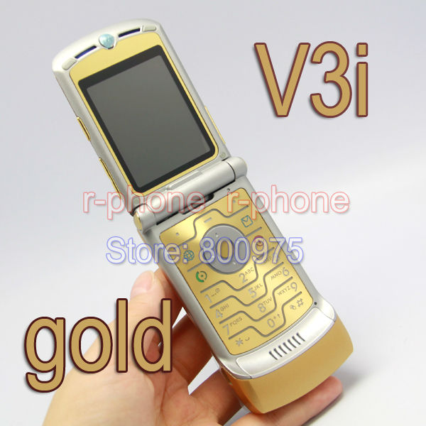 Free Shipping Classic Unlocked Original RAZR V3i Mobile Cell Phone Red Wholesale Retail mobile phone
