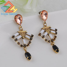 2016 New European and American pop punk metallic retro earrings jewelry