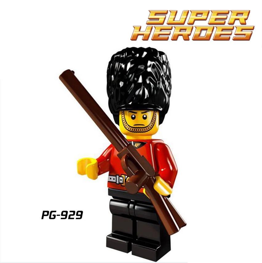 4pcs//set Cartoon Soldier Guard Hero Building Blocks Bricks Figures Models Toys