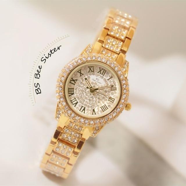 47831c8f74344 New Arrival BS Brand Full Diamond Luxury Bracelet Watch Hot Sale Women 14K  Austrian Crystals Watch