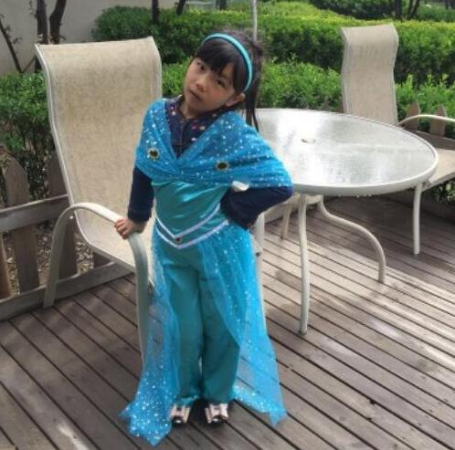 halloween 110 150 cm princess jasmine costume Aladdinu0027s Princess cosplay party game role costume kid girl Belly dance dress -in Girls Costumes from Novelty ...  sc 1 st  AliExpress.com & halloween 110 150 cm princess jasmine costume Aladdinu0027s Princess ...