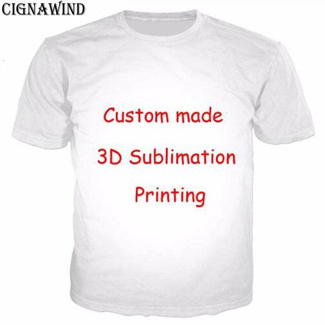 14f34afa4adca0 CIGNAWIND Custom Design Print 3D T-Shirts Summer Short Sleeve O-neck Tee  Shirt For men women Drop Shipping Wholesale Unisex Tops
