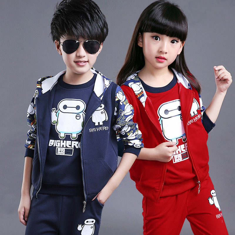 Spring Boys Sport Suit 2017 New Leisure Tracksuits for Girls  Children Long Sleeve Kids Clothing Set with  Autumn 2015 new arrive super league christmas outfit pajamas for boys kids children suit st 004