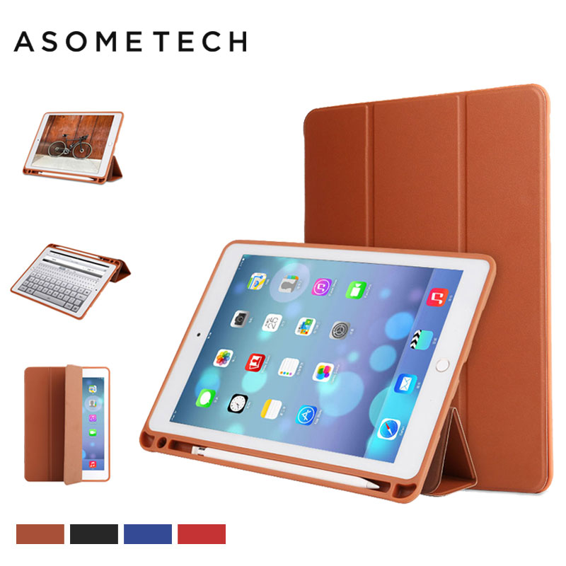 Tablet & E-Books Case For Ipad Pro 10.5 Pro 9.7 inch Silicone+Leaher W/ Pencil Pen Slot Stand Cover Fundas for ipad 2018 Air 1/2