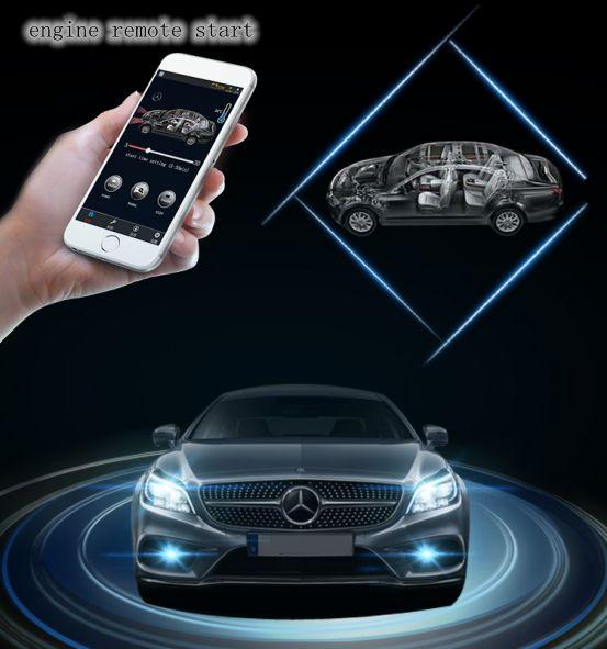PLUSOBD 2017 démarreur à distance de voiture démarrage arrêt moteur système d'alarme automatique voiture alarme GPS Tracker fenêtre fermer pour Mercedes Benz E W207