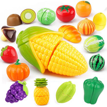 Pretend Play toys Educational Cooking Simulation Miniature Food Model Fruits and Vegetables Kids Kitchen Toys for Children Girls
