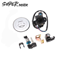 Motorcycle Accessory Ignition Switch Gas Cap Cover Key Lock Set For Honda Hornet 250 CB600F 1998 2002 Hornet250 1999 2001 CB250