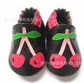 Fancy cartoon strawberry genuine leather baby girls shoes soft sole baby moccasins  kids 2016 toddler non slip newborns shoes