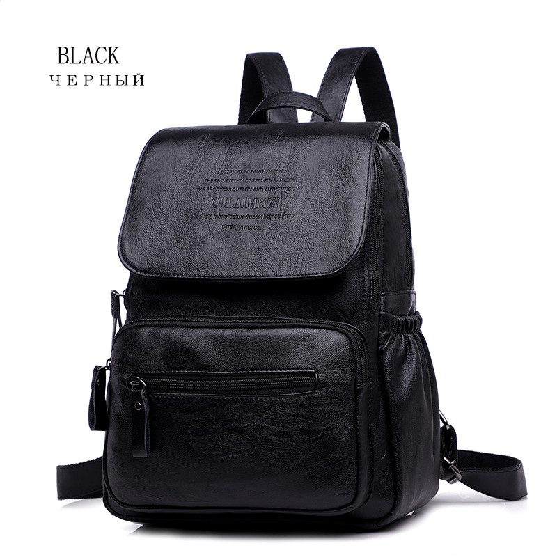 HTB1XU1pR4jaK1RjSZFAq6zdLFXaC 2019 Women Leather Backpacks High Quality Ladies Bagpack Luxury Designer Large Capacity Casual Daypack Sac A Dos Girl Mochilas