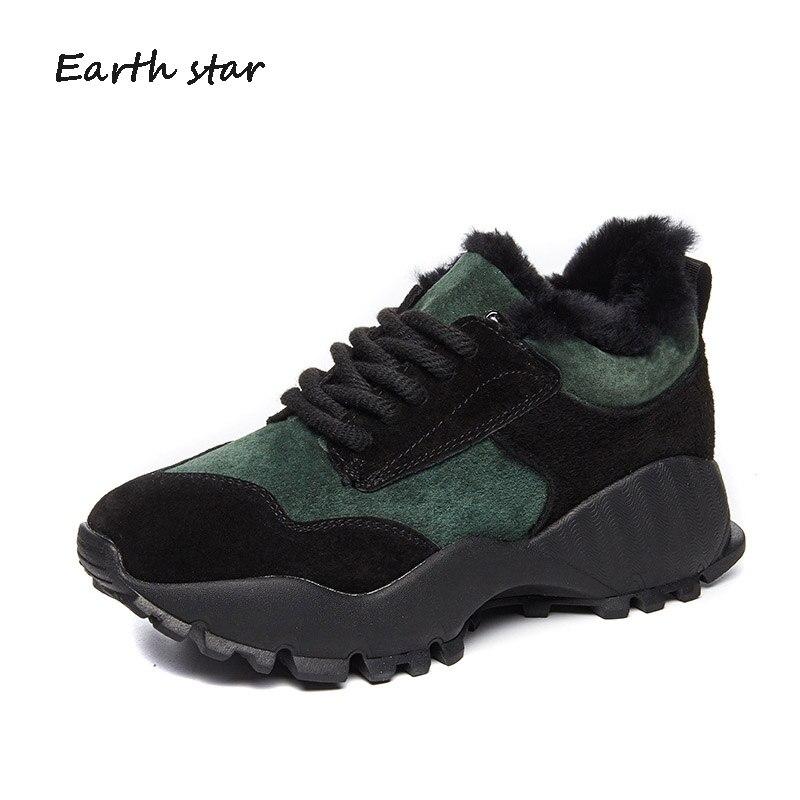 Chaussure Chaud Beige Casual Chaussures Véritable Green Respirant Augmenter noir Dame En Femelle Footware High Top Mode Cuir Blanc Sneakers Femmes Hiver dark xpP55qY1