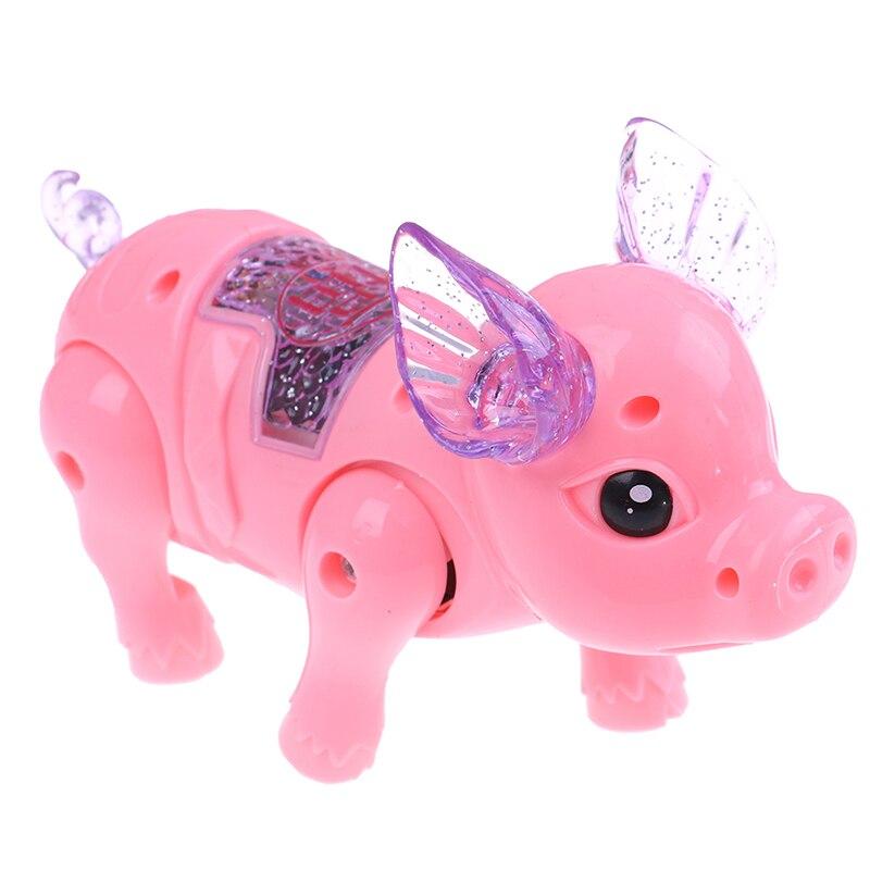15x6x10,5 Cm Schöne Elektrische Licht Schwein Spielzeug Elektrische Leine Schwein Spielzeug Kinder Nette Spiel Schwein Spielzeug Kinder Für Kind