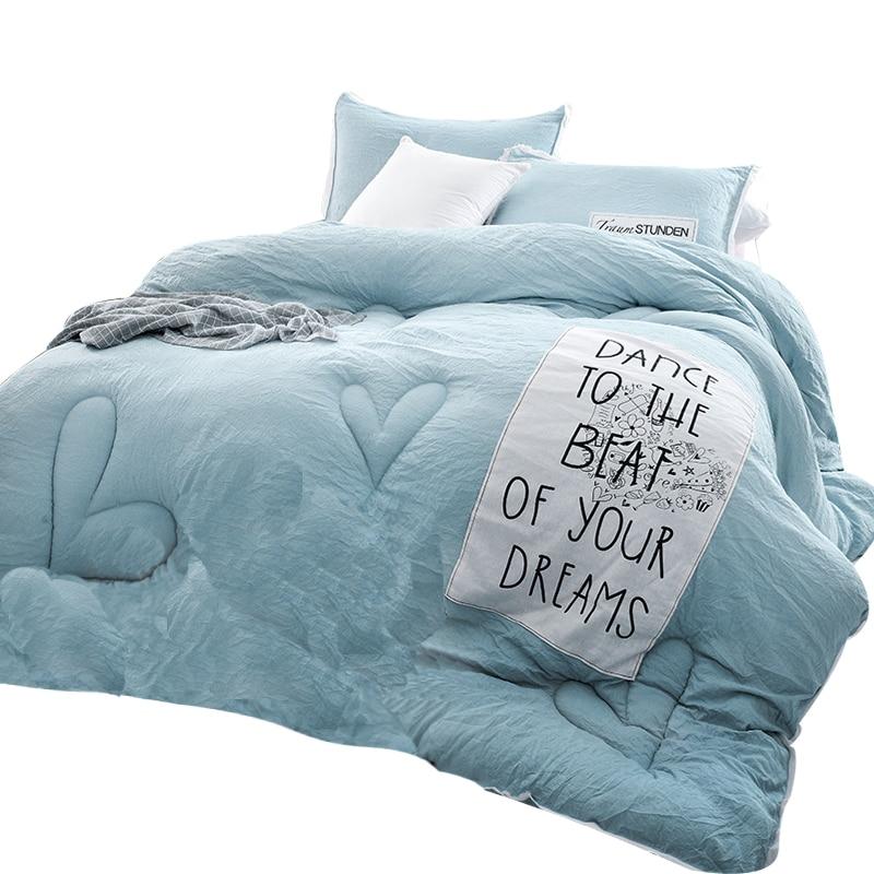 Svetanya Stitching Quilt Queen/King <font><b>Size</b></font> Winter Duvet Warm Comforter+pillowcases 3pcs <font><b>bed</b></font> set Mechanical Wash