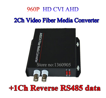 цена на 2Ch CVI AHD Video data optical Media Converter Transmitter Receiver with RS485 data-1Pair for 720P 960P AHD CVI HD camera CCTV