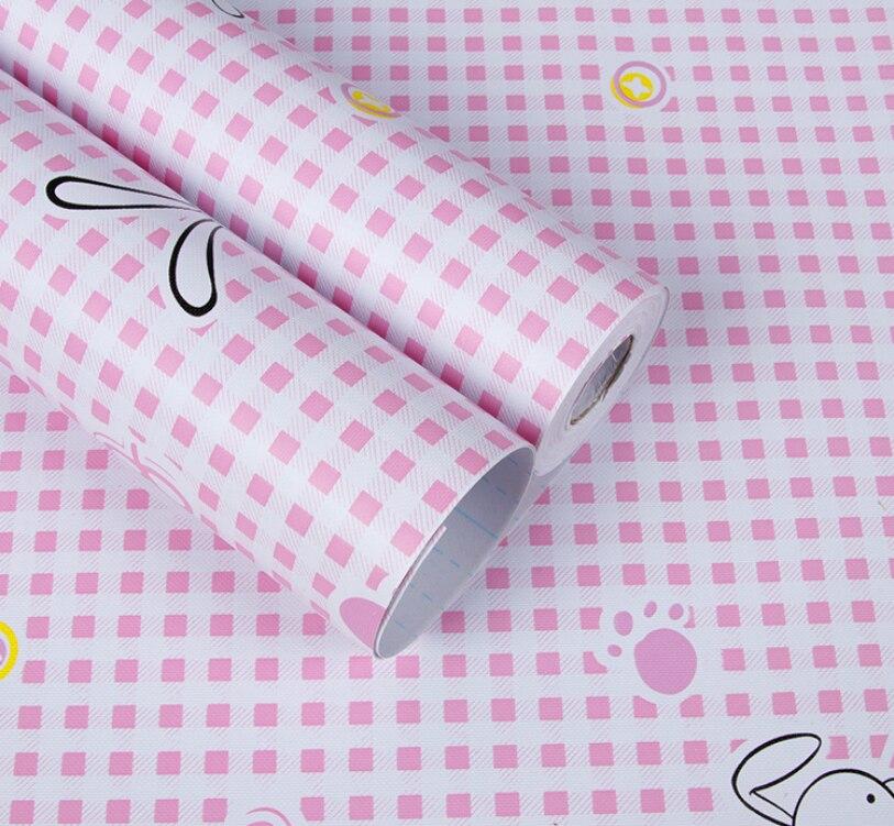 0.45m * 10m auto-adhésif papier peint rouleau taille mignon animal dessin animé papier peint design pour enfants chambre salon mur décoration