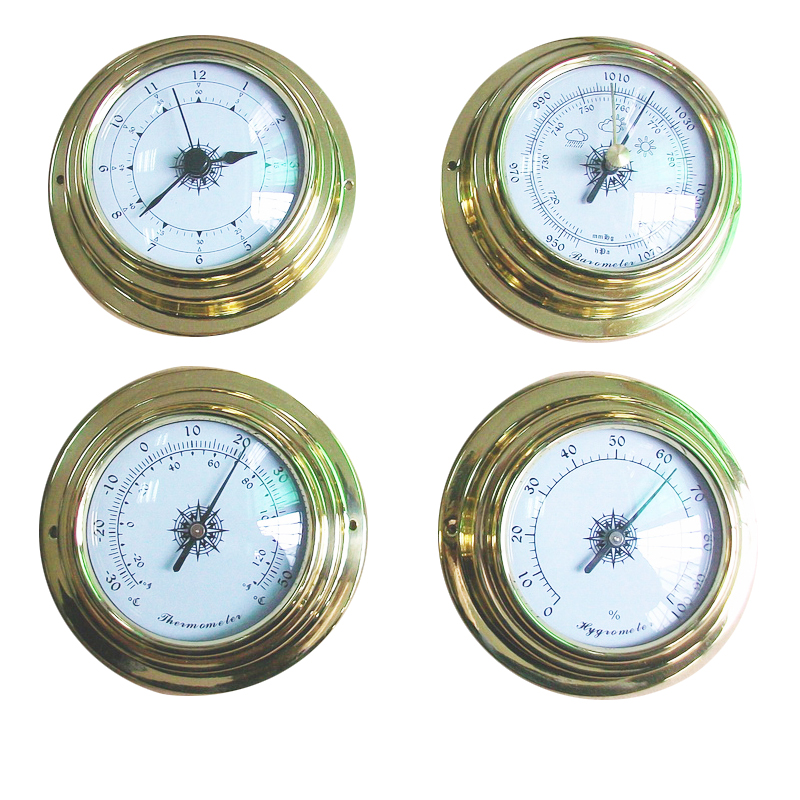 130MM 970~1040hPa Wall Hanging Weather Station Thermometer Barometer Hygrometer