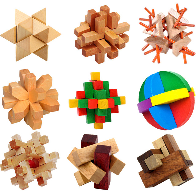 Kong Ming Luban Lock Chinese Traditional Toy Unique 3D Wooden Puzzles