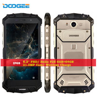 DOOGEE S60 Waterpoof Mobile Phone 6GB RAM 64GB ROM Android 7 0 Octa Core 21MP 12V2A