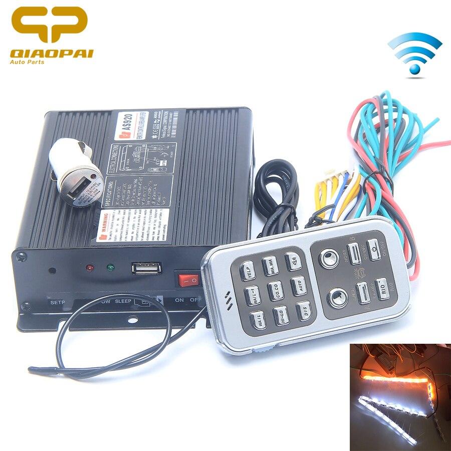 Universal 200W 12 Sound Car Tone Alarm 12V Wireless Remote Control Police Siren Special Voice Signals