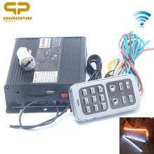 цена на Universal 200W 12 Sound Car Tone Alarm 12V Wireless Remote Control Police Siren Special Voice Signals Loudspeaker Remote Light