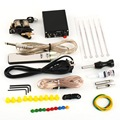 1 set Complete Tattoo Kit Set Equipment Machine Power Supply gun Color Inks 2016 Hot