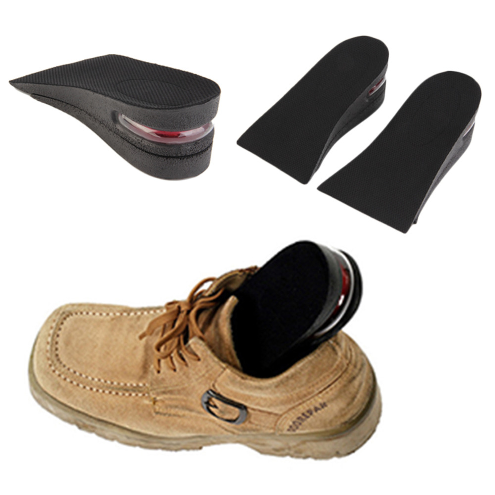 5CM Taller Shoe Insole Soft Silicone Air up Elevator Insole Lift Kit Taller Pad Foot Care Unisex Half Inserts Height Increase 2016 2 pcs invisible shoe taller insole 6 color increasing height short helper half lift air 2 5cm cushion insert 6 colors