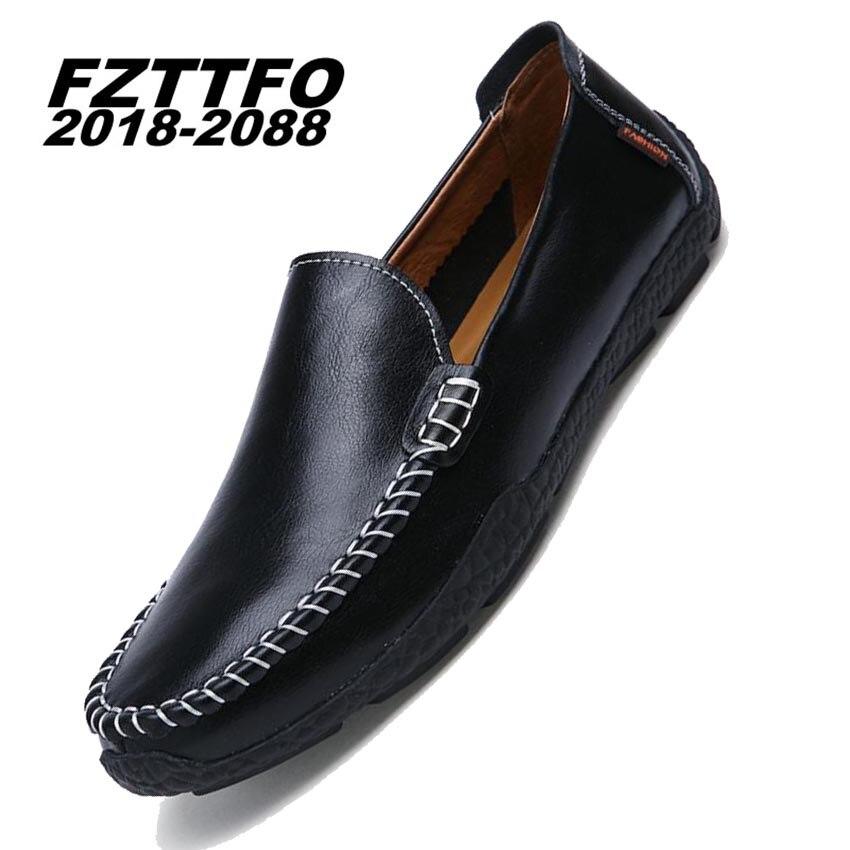 Hombres 100% Zapatos de Conducción de Cuero de Gamuza Genuina, Nuevos Mocasines