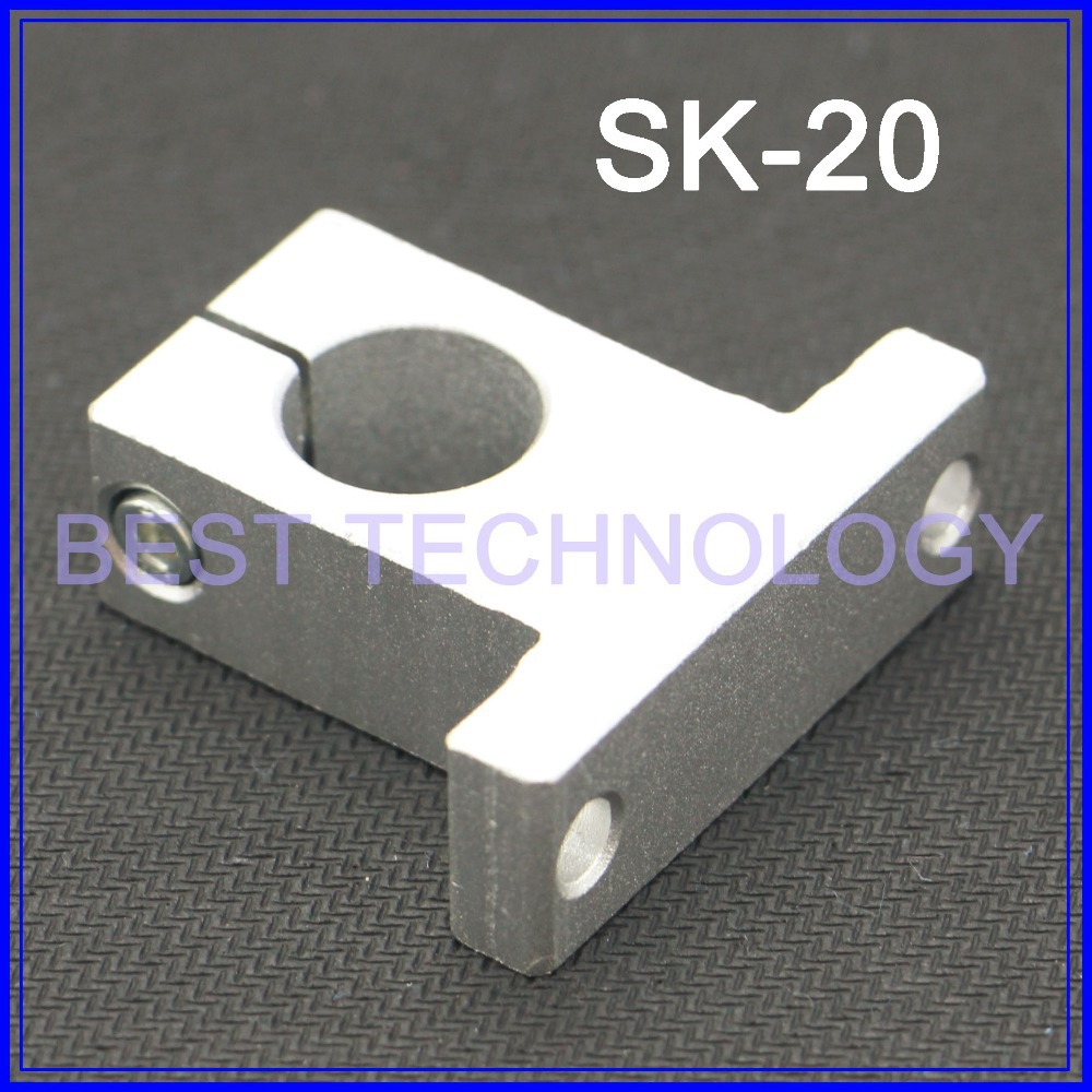 SK20  / SH 20  Linear Motion Linear Shaft End Support Match Use Linear Horizontal Motion Round Rod