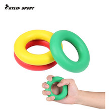 Sport Brand Muscle Power Training Rubber Ring Exerciser Gripper Fashion 50KG 7cm Strength Finger Hands Grip Free Ship цены онлайн