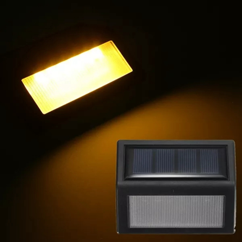 6LED Solar Stair Light PIR Motion Sensor Panel Lamp Outdoor Lighting Garden Path Emergency Lamp For Wall Stair Yard