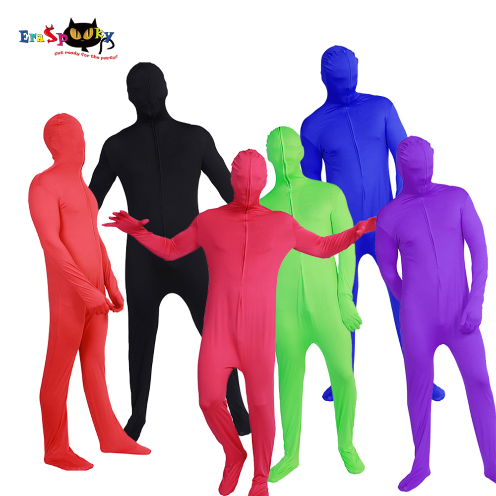 Mens Lycra Full Body Zentai Suit Customes Adult Second Skin Tight Suits Halloween Costume For Men Spandex Nylon Bodysuit Group