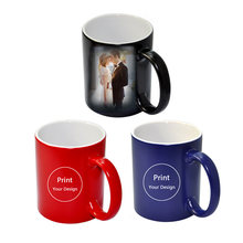 e07251ff84d Custom Photo Magic Mug Heat Sensitive Ceramic Mugs Personalized Color  Changing Coffee Milk Cup Gift Print