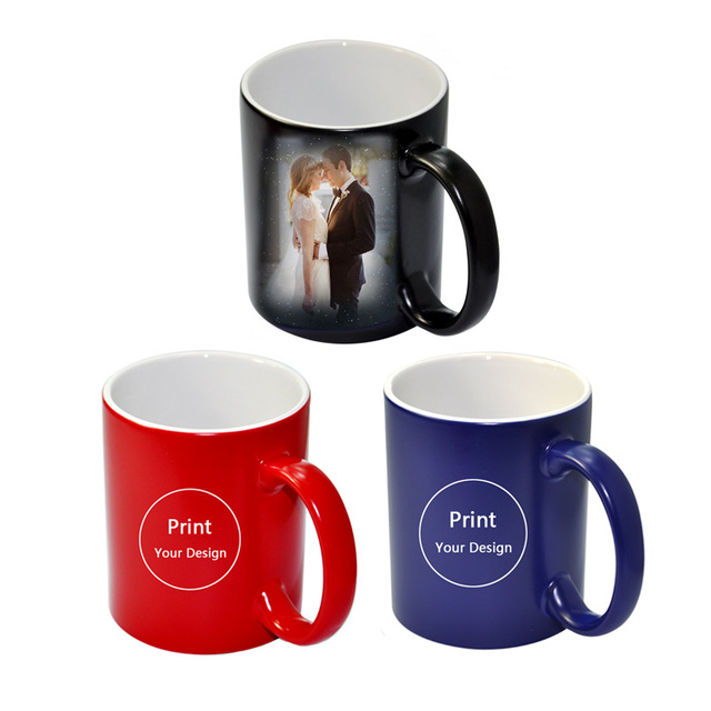 Custom Photo Magic Mug Heat Sensitive Ceramic Mugs Personalized Color Changing Coffee Milk Cup Gift Print Pictures H1128