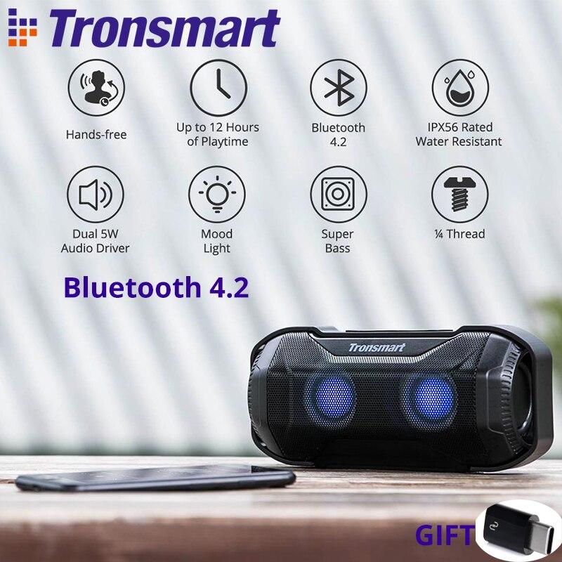 $2 Coupon In Lager Tronsmart Element Blaze 10 W Tragbare Bluetooth Lautsprecher Mit Überlegene Bass Led-leuchten Ipx56 Wasser -beständig Modische Muster