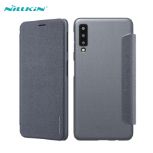 For Samsung Galaxy A7 2018 Leather Case NILLKIN Sparkle Ultra Thin Flip PU Leather +PC Cases For Samsung Galaxy A7 2018 Covers nillkin pu pc flip open case w display window for samsung galaxy mega 2 black