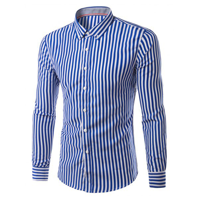 2017 New Fashion Hemiks Men S Clic Slim Fit Vertical Striped Long Sleeve Dress Shirt Best For Office And Street Wear In Shirts From Clothing