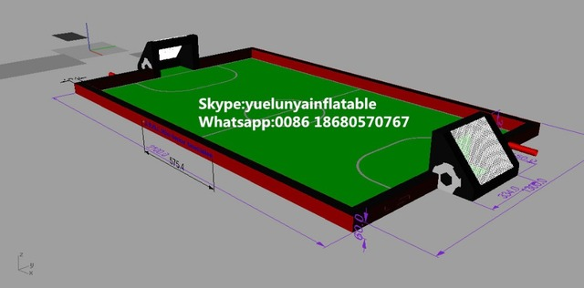 2016 new Factory direct Inflatable slide, Inflatable soccer field  KYG-103