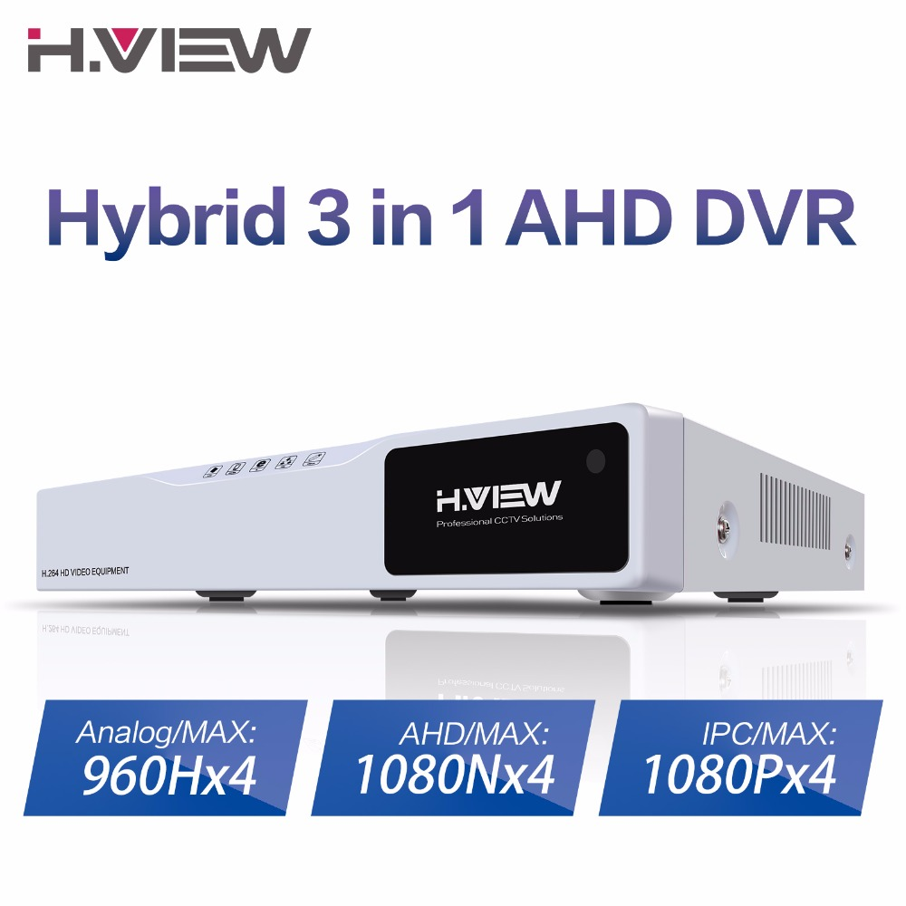 Image 2 - H.VIEW 4ch CCTV Surveillance Kit 4 Cameras Outdoor Surveillance Kit IR Security Camera Video Surveillance System DVR Kits-in Surveillance System from Security & Protection