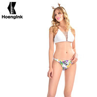 BRANDMAN White Plus Multi Color Flower Bikini Combination The Use Of High Quality Fabric Products Comfortable
