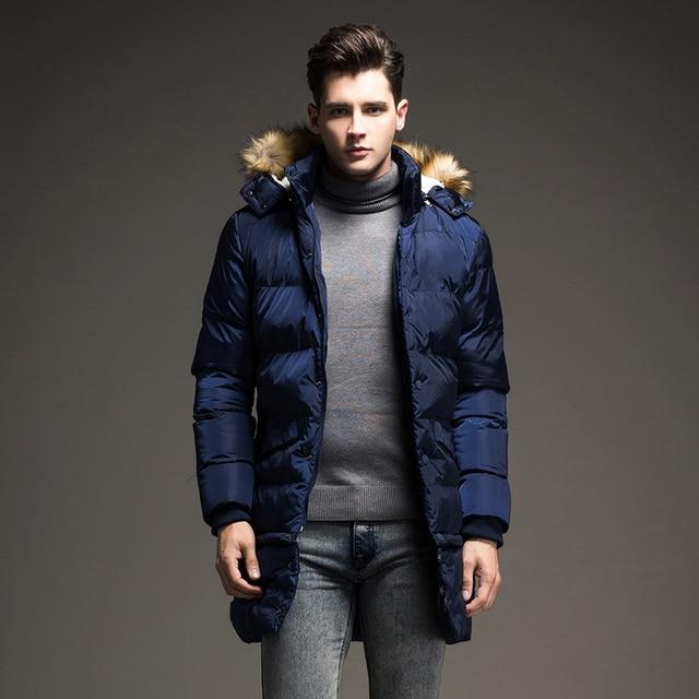 2017 Envmenst Brand Design New Long Winter Down Jacket Men