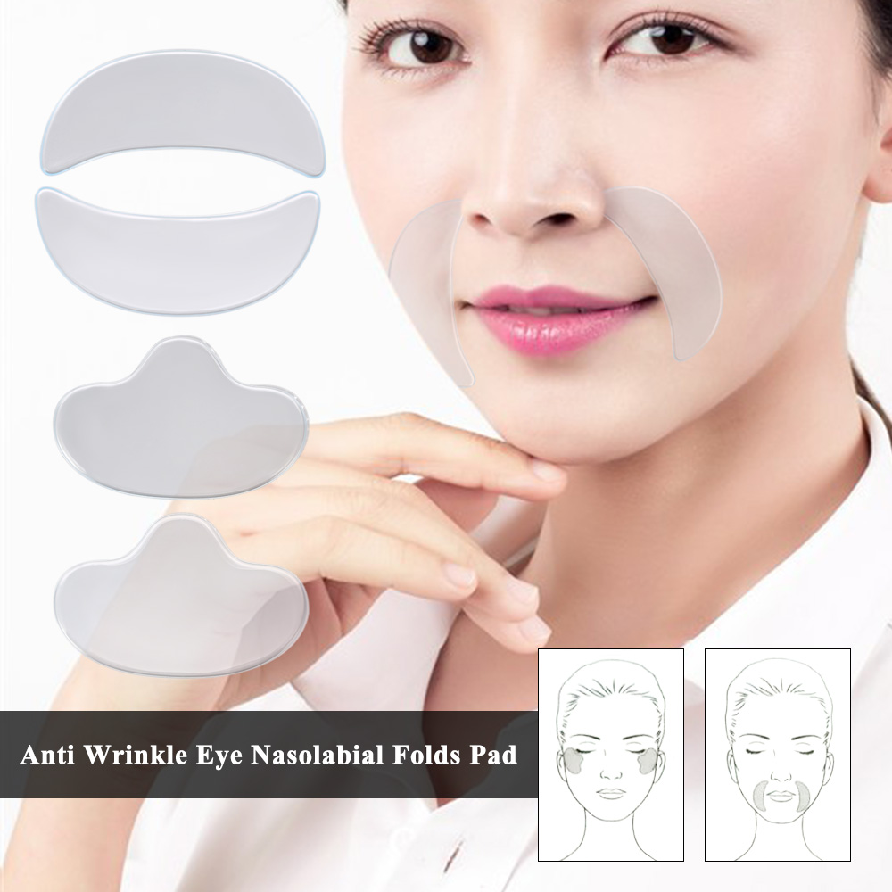 Anti Wrinkle Eye Face Pad Reusable Medical Grade Silicone Invisible Nasolabial Folds Anti-aging Mask Prevent Face Wrinkle Силиконы