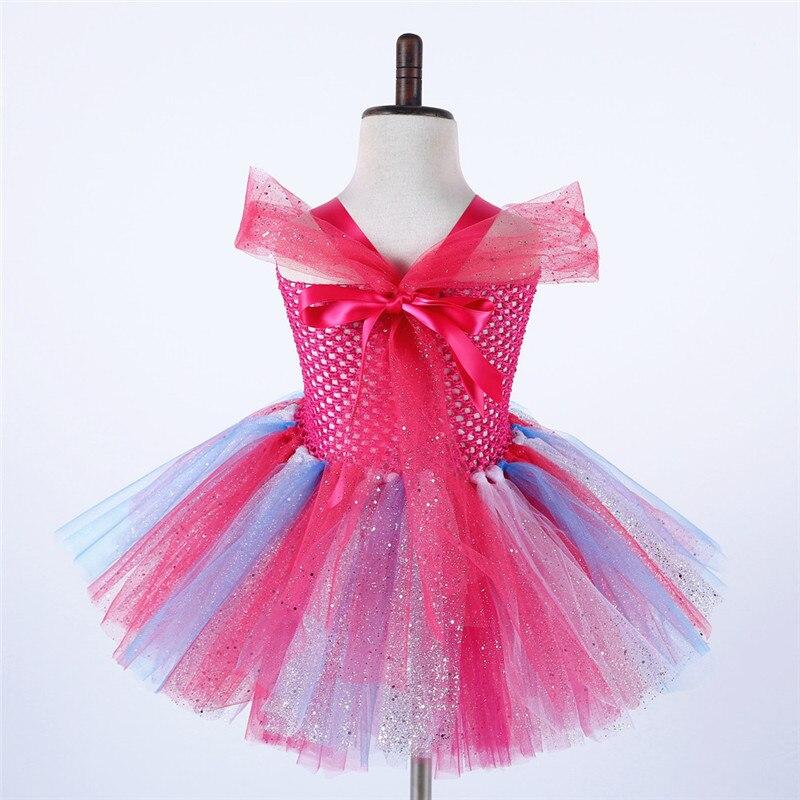 Image 3 - Troll Poppy Tutu Dress Baby Girl Tulle Princess Dress Kids Halloween Cosplay Costume Girl Festival Birthday Party Cartoon Dressprincess dresstutu dresscartoon dress -