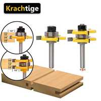 Krachtige Tenon Milling Cutter Tool Drilling Milling Tongue And Groove Router Bit Set Wood Splicing Milling