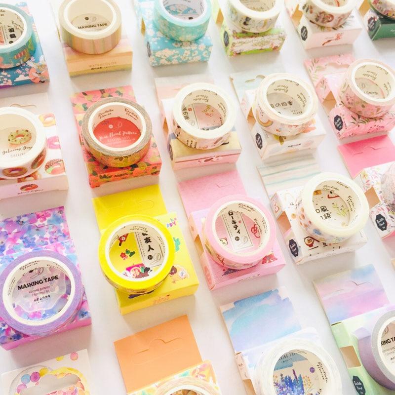 1.5CM*7M Basic Series Washi Masking Tape Album Scrapbooking Decor Tape Stick Label