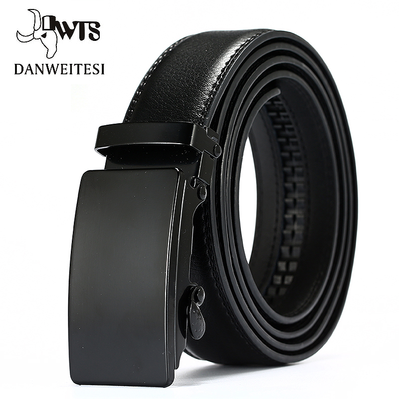 [DWTS]Genuine Leather Belts For Men Automatic Male Belts Cummerbunds Leather Belt Men dropshipping Black Belts 105cm-125cm