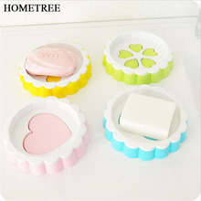 HOMETREE Fashion Creative Double layer Soap Holder Flower Drain Molds Sink Srainage Soap Dish Plastic Box