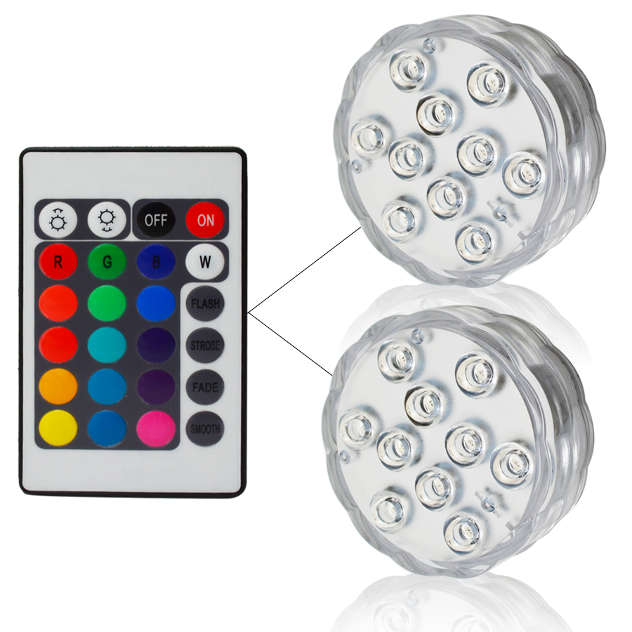 RGB LED Underwater Light Battery Operated aquarium Waterproof garden Swimming Pool Light Submersible Party Piscina Ponds par56