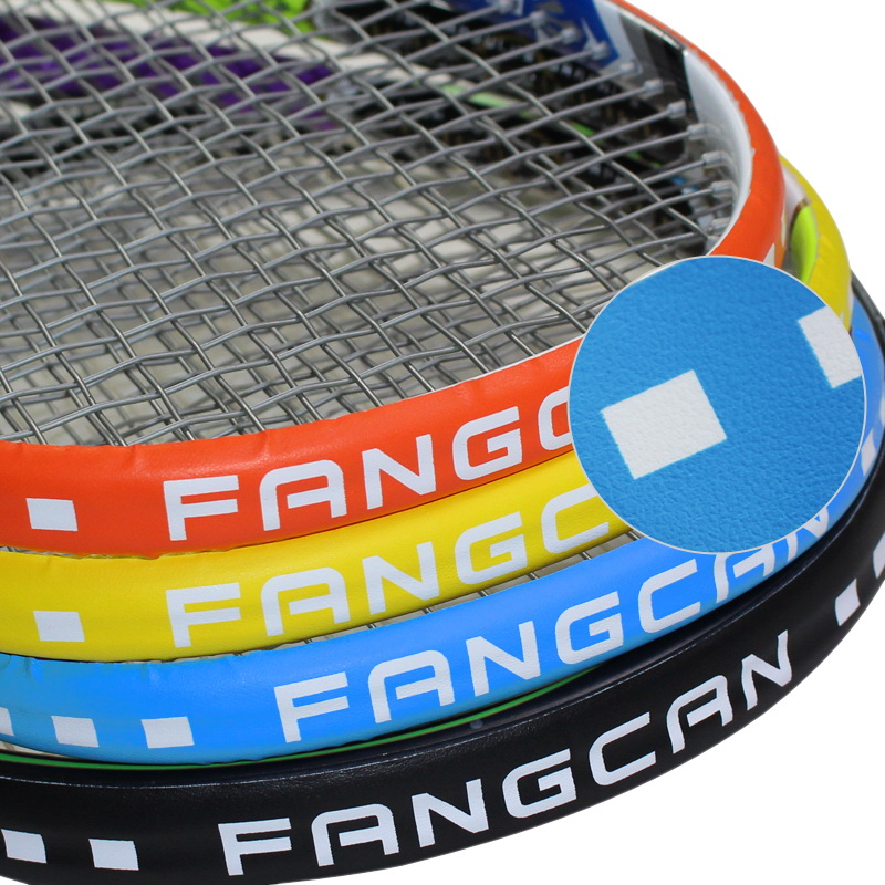 3 piezas / paquete FANGCAN Tennis / Squash Protection Tape PU Composite Tennis / Squash Racket Head Protector