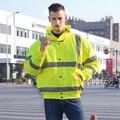 EN471 ANSI/MAR 107 AS/NZS Oi vis workwear blusão chuva à prova d' água revestimento de isolamento térmico refletivo de segurança inverno jaqueta