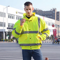 EN471 ANSI/SEA 107 AS/NZS  Hi vis waterproof windbreaker workwear rain jacket insulated thermal reflective winter safety jacket